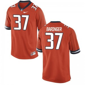 Illinois Jersey Mens XXL Bryce Baringer Limited Mens - Orange