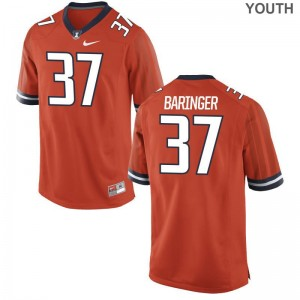 Limited Youth(Kids) University of Illinois Jersey X Large Bryce Baringer - Orange