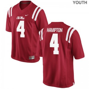 Limited C.J. Hampton Jersey Youth Large Ole Miss Kids Red