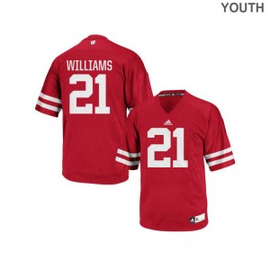 Caesar Williams Youth(Kids) Jerseys Youth Small University of Wisconsin Replica - Red