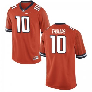 Cam Thomas Fighting Illini Jerseys Men Medium Limited Orange Men