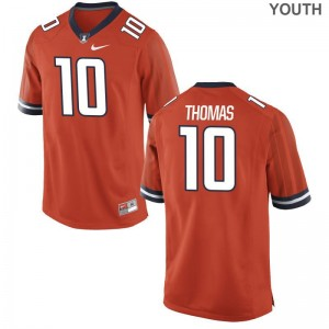 UIUC Cam Thomas Jerseys Large Youth(Kids) Orange Limited