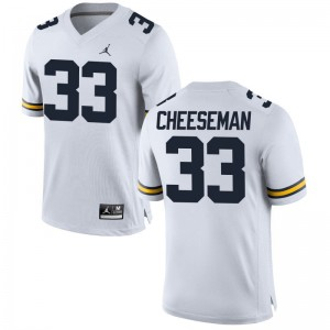 Camaron Cheeseman University of Michigan Jerseys Mens Small Jordan White Men Limited