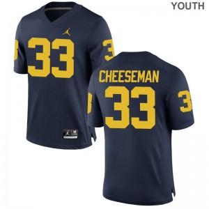 Michigan Limited Camaron Cheeseman Youth Jerseys Youth X Large - Jordan Navy