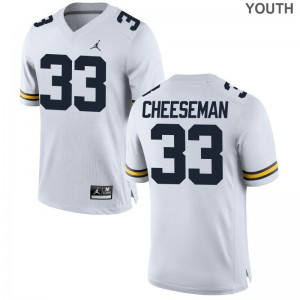 Camaron Cheeseman Jerseys X Large For Kids Michigan Jordan White Limited