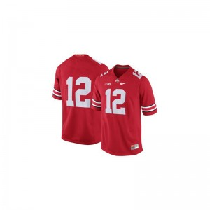 Limited OSU Buckeyes Cardale Jones Men Red Jerseys Mens Small
