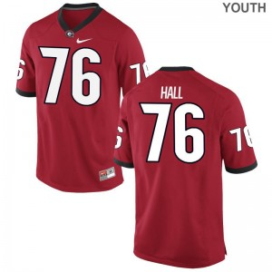 Youth(Kids) Limited Georgia Jerseys Medium of Carson Hall - Red