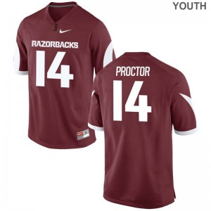 Limited For Kids Razorbacks Jerseys Youth Small Carson Proctor - Cardinal