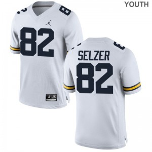 Carter Selzer Wolverines Jersey Medium Limited Kids Jordan White