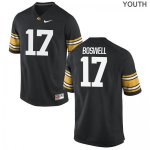 Cedric Boswell Jersey S-XL For Kids University of Iowa Limited Black