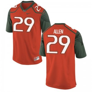 University of Miami Chad Allen Jerseys S-3XL Limited Orange Men