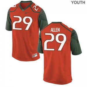 For Kids Chad Allen Jerseys Orange Limited Miami Hurricanes Jerseys