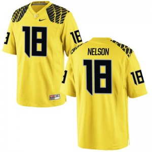 Charles Nelson Oregon Jerseys Mens XXL Gold For Men Limited