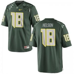 Oregon Ducks Charles Nelson Jerseys S-3XL For Men Limited Jerseys S-3XL - Green
