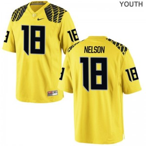 Limited Youth(Kids) Oregon Jerseys XL of Charles Nelson - Gold