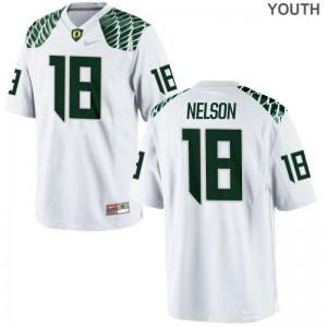 Oregon Ducks Charles Nelson Limited For Kids Jerseys - White
