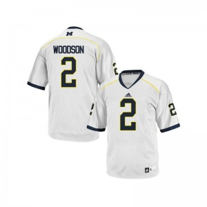 Charles Woodson University of Michigan Jersey Mens Large Limited Mens White