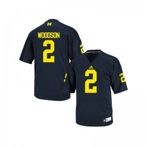 Wolverines Charles Woodson Jersey Medium Youth Navy Blue Limited