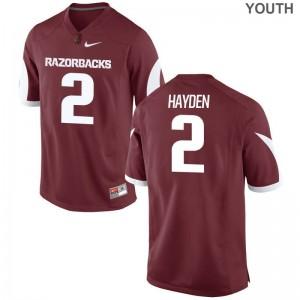 Razorbacks Chase Hayden Jerseys Youth X Large Limited For Kids - Cardinal
