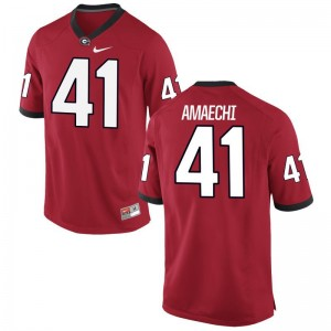 Red Chuks Amaechi Jersey Large UGA For Men Limited