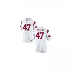 Trojans Limited Men White Clay Matthews Jersey Mens XXL