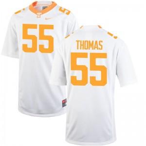 Coleman Thomas UT Jerseys XL For Men Limited - White