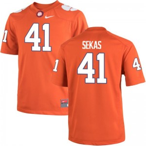 Connor Sekas For Men Orange Jersey Medium Limited Clemson Tigers