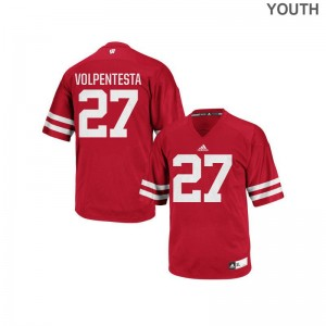 University of Wisconsin Cristian Volpentesta Replica Youth Official Jerseys - Red