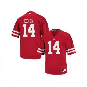 Wisconsin D'Cota Dixon Authentic Mens Jersey - Red