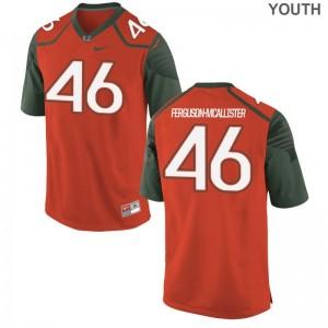 Daniel Ferguson-McAllister Kids Jersey Youth Medium University of Miami Limited - Orange