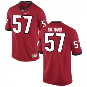 Georgia Daniel Gothard Jerseys Mens XXXL Limited For Men Red