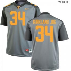 Darrin Kirkland Jr. Tennessee Jerseys Small Gray Youth Limited
