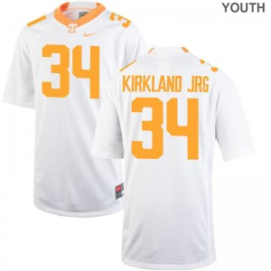 Darrin Kirkland Jr. Tennessee Volunteers Jerseys Youth XL Youth Limited White