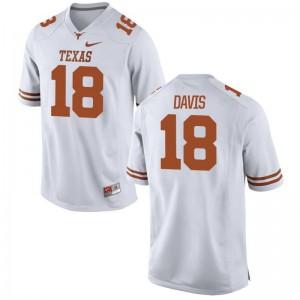 Longhorns Jerseys Davante Davis Limited For Men - White
