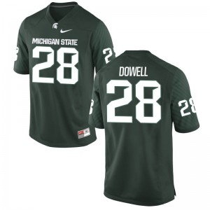 Michigan State University David Dowell Jerseys S-XL For Kids Green Limited