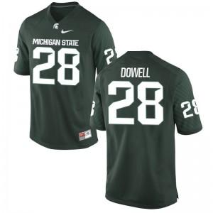 Kids David Dowell Jerseys Embroidery Green Limited Michigan State Jerseys