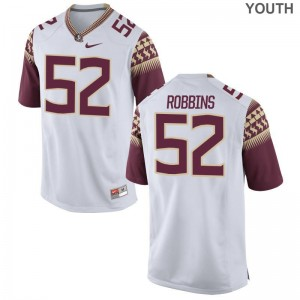 David Robbins Jersey Florida State White Limited Youth Jersey