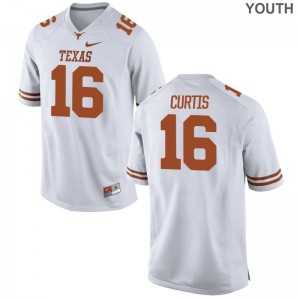 Texas Longhorns Davion Curtis Limited Jersey White For Kids