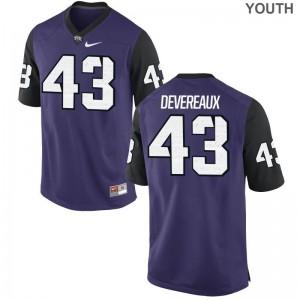 Davis Devereaux TCU Horned Frogs Jersey Large Limited Kids Jersey Large - Purple Black