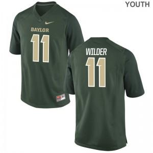 University of Miami Jerseys Large De'Andre Wilder Limited Kids - Green