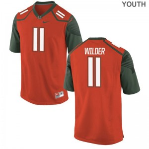 De'Andre Wilder For Kids Jersey Youth X Large Miami Limited - Orange