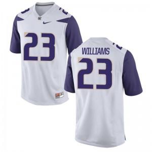 DeShon Williams UW Men Jersey White Limited Jersey