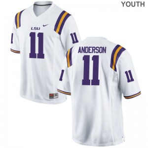 LSU Tigers Dee Anderson For Kids Limited Jerseys Medium - White