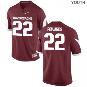 Deon Edwards Limited Jerseys Youth Arkansas Razorbacks Cardinal Jerseys
