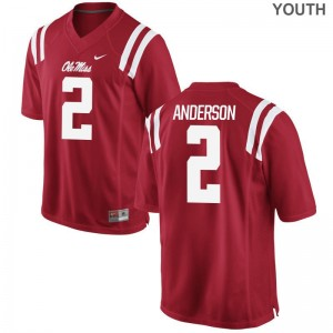 Deontay Anderson Ole Miss Jerseys S-XL For Kids Limited Jerseys S-XL - Red