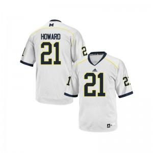 Wolverines Desmond Howard Jersey Men Large Mens White Limited