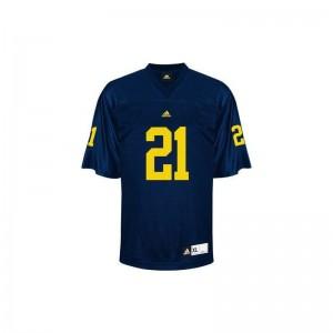 Desmond Howard University of Michigan Jerseys Youth X Large Youth Limited Jerseys Youth X Large - Blue