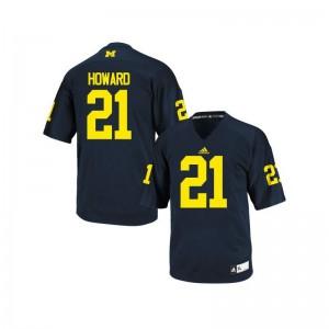 Desmond Howard University of Michigan Jerseys Large Limited For Kids Navy Blue