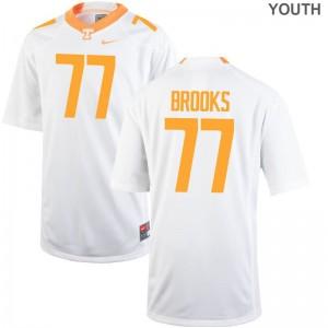 XL UT Devante Brooks Jerseys Youth(Kids) Limited White Jerseys
