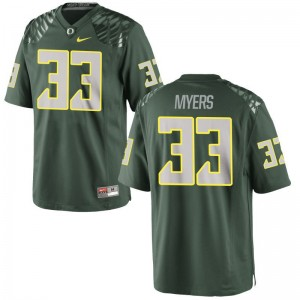 Oregon Dexter Myers Jerseys Mens Large Mens Limited Green